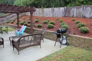 Usable space created at small backyard
