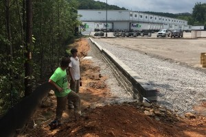 Retaining Wall For Fed Ex