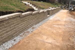 Retaining wall installed in Birmingham Al