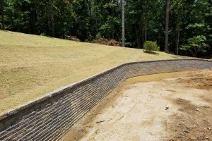 Constructed the retaining wall in Indian Springs, Al