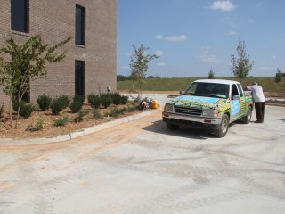 Commercial landscaping in Alabaster, Alabama.