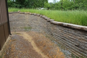 Retaining wall in Helena, Al