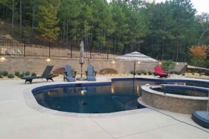 Landscape job around the pool in Helena, Al