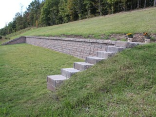 Retaining wall installed in Pelham, Al