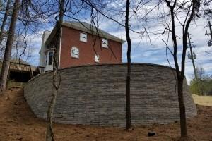 Retaining wall constructed Alabaster Alabama